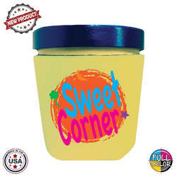 JIT61FC - Premium Full Color Dye Sublimation Collapsible Foam Ice Cream Pint Insulator