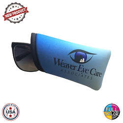 JIT57FC - Premium Full Color Dye Sublimation Foam Padded Curved Eyeglass Sleeve