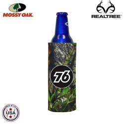 JIT29TC - Mossy Oak or Realtree Premium Collapsible Foam 16oz Budweiser Aluminum Bottle Coolie