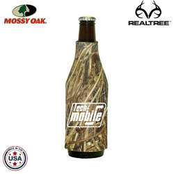 JIT02TC - Mossy Oak or Realtree Premium Collapsible Foam Bottle Sleeve Insulator (No Bottom)