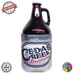 JIT53FC - Premium Full Color Dye Sublimation Foam 64oz Growler Bottle Insulator