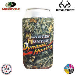 JIT40TCFC - Mossy Oak or Realtree Camo Full Color Dye Sublimated Collapsible Neoprene Can Insulator