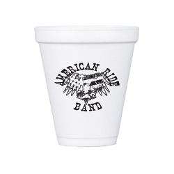 JIT152- 12oz White Styrofoam Insulated Hot or Cold Foam Cup