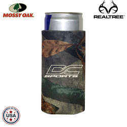 JIT15TC - Mossy Oak or Realtree Premium Collapsible  Foam 8.3oz Energy Drink Insulator