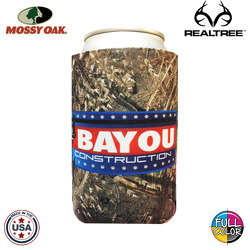 JIT01TCFC - Premium Mossy Oak or Realtree Camo Full Color Dye Sublimated Collapsible Foam Can Insulator