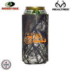 JIT17TC - Mossy Oak or Realtree Premium Collapsible Foam 16oz Tall Boy / Energy Drink Insulator
