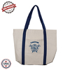 "JIT236ND - 10oz Natural Canvas Tote Bag w/ Gusset & Small Pocket - 16"" x 11"" x 3"""