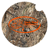 "JIT67TC - Mossy Oak or Realtree 2 5/8"" Round Premium Foam Car Coaster"