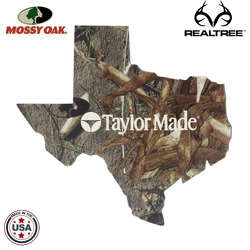 "JIT10TC - Mossy Oak or Realtree 6"" Texas Shaped Premium Foam Coaster"