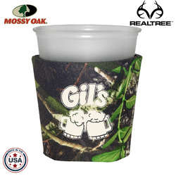 JIT19TC - Mossy Oak or Realtree Premium Collapsible Foam 12oz Solo Style Cup Insulator