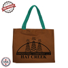 "JIT230CD - 10oz Colored Canvas Flat Tote Bag - 14"" x 11"""