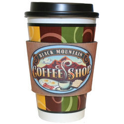 JIT09FC - Premium Full Color Dye Sublimation Collapsible Foam Coffee Wrap Insulator
