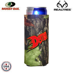 JIT27TC - Mossy Oak or Realtree Premium Collapsible Foam 12oz Energy Drink Insulator