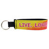 "JIT83FC - 8"" x 1"" Elite Full Color Dye Sublimation Neoprene Wristband Key Tag"