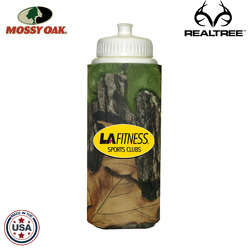 JIT07TC - Mossy Oak or Realtree Premium 32oz Foam Insulated Sports Squirt Bottle