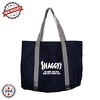 "JIT236CD - 10oz Colored Canvas Tote Bag w/ Gusset & Small Pocket - 16"" x 11"" x 3"""