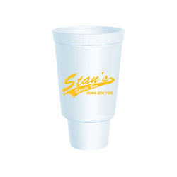 JIT156- 32oz White Styrofoam Insulated Hot or Cold Foam Cup