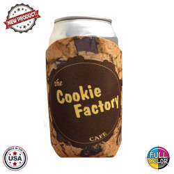 JIT44FC - Full Color Collapsible Foam Chocolate Chip Cookie Coolie