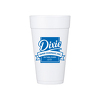 JIT154- 20oz White Styrofoam Insulated Hot or Cold Foam Cup