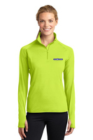 Bright Green Ladies 1/2 Zip Performance Pullover