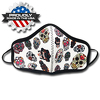 JIT801FC - Medium Full Color Dye Sublimation Face Mask Multi-Ply with Elastic Loops